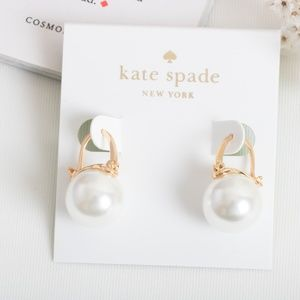 Kate Spade Shine On Elegant Pearl Drop Earrings